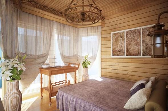Вагонка в интерьере загородного дома: оформление дачи или усадьбы для постоянного проживания