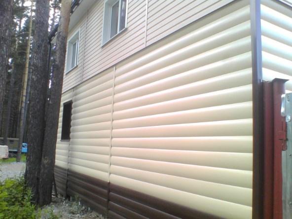 Блок-хаус металлический - размеры и виды сайдинга