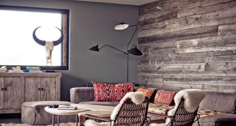 Вагонка в интерьере гостиной в доме - свежие идеи и дизайнерские решения 18 фото