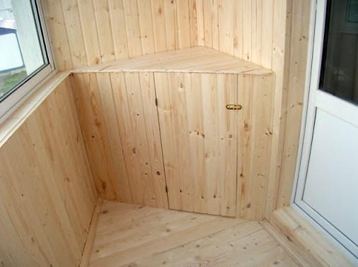 Как сделать тумбочки для балкона из вагонки - разумная утилизация остатков ламелей