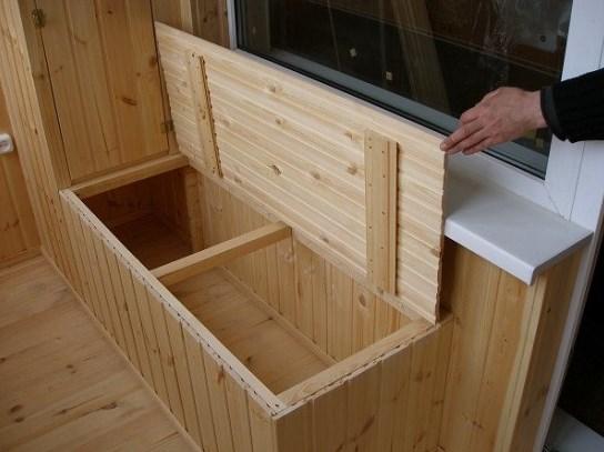 Ящик из вагонки своими руками - отличная идея для балкона