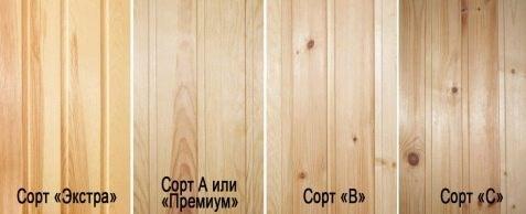 Самая дешевая вагонка для бани - сорт древесины и тип ламели